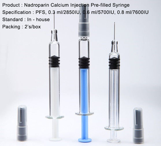 Pre Filled Syringe Small Volume Parenteral Nadroparin Calcium Injection