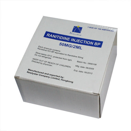50mg / 2ml Small Volume Parenteral Ranitidine Hydrochloride Injection