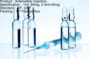 Antimalariamittel Artemether-Einspritzungs-Dosierungs-Antimalariamedikation 80mg/1ml 40mg/0.5ml